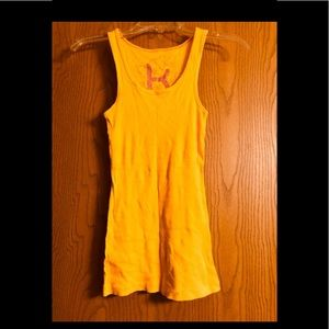 Golden Yellow Inch-Wide Stap Tank Top